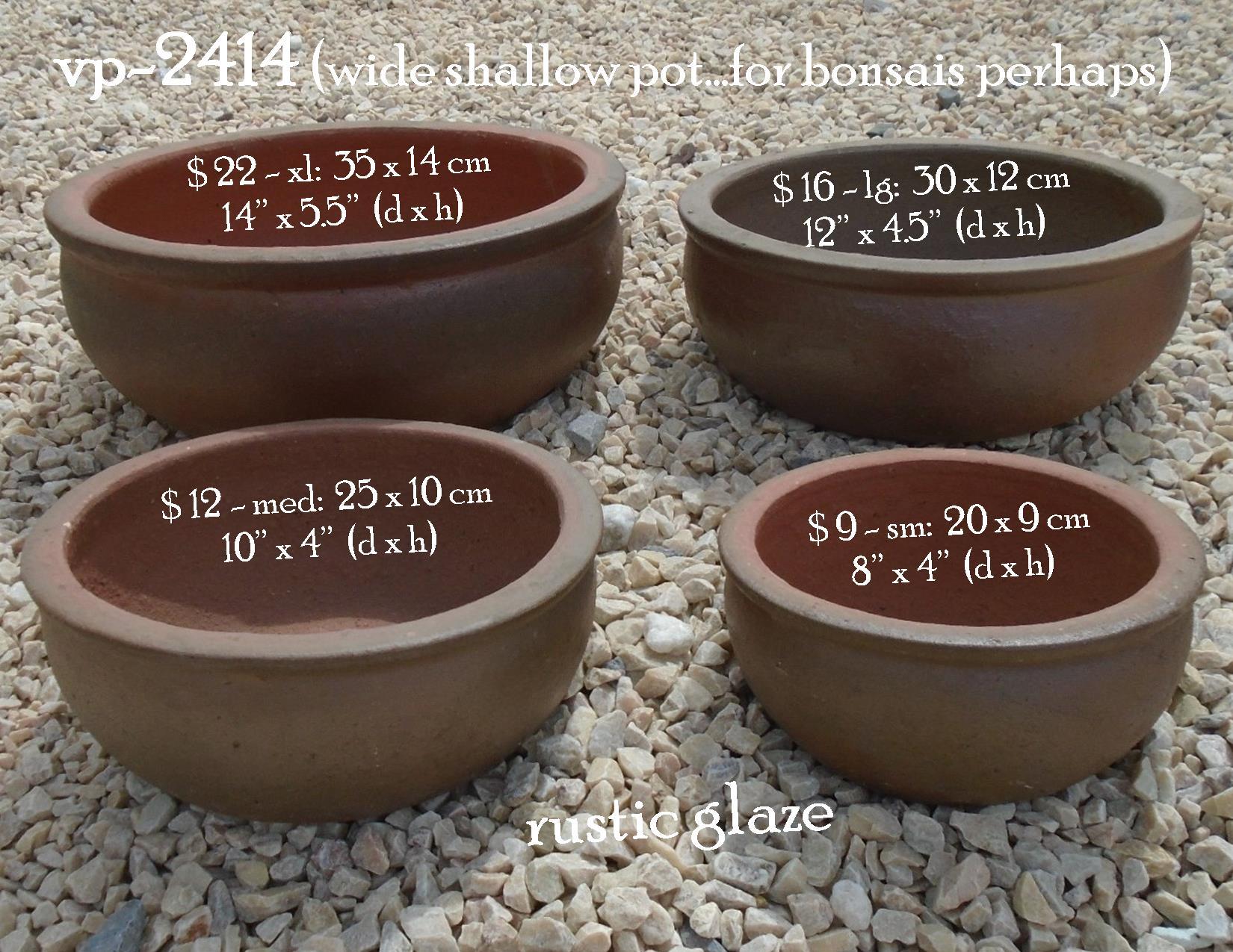 vp-2414 wide shallow pot