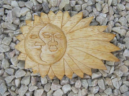 inwp-01LT - natural wood sun-moon plaque