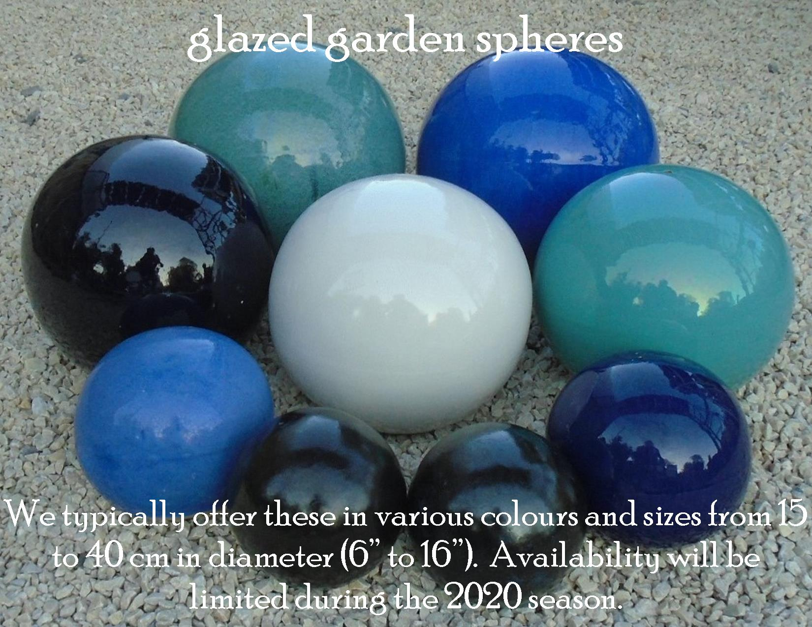 glazed garden spheres