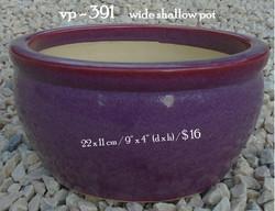 vp - 391     wide shallow pot