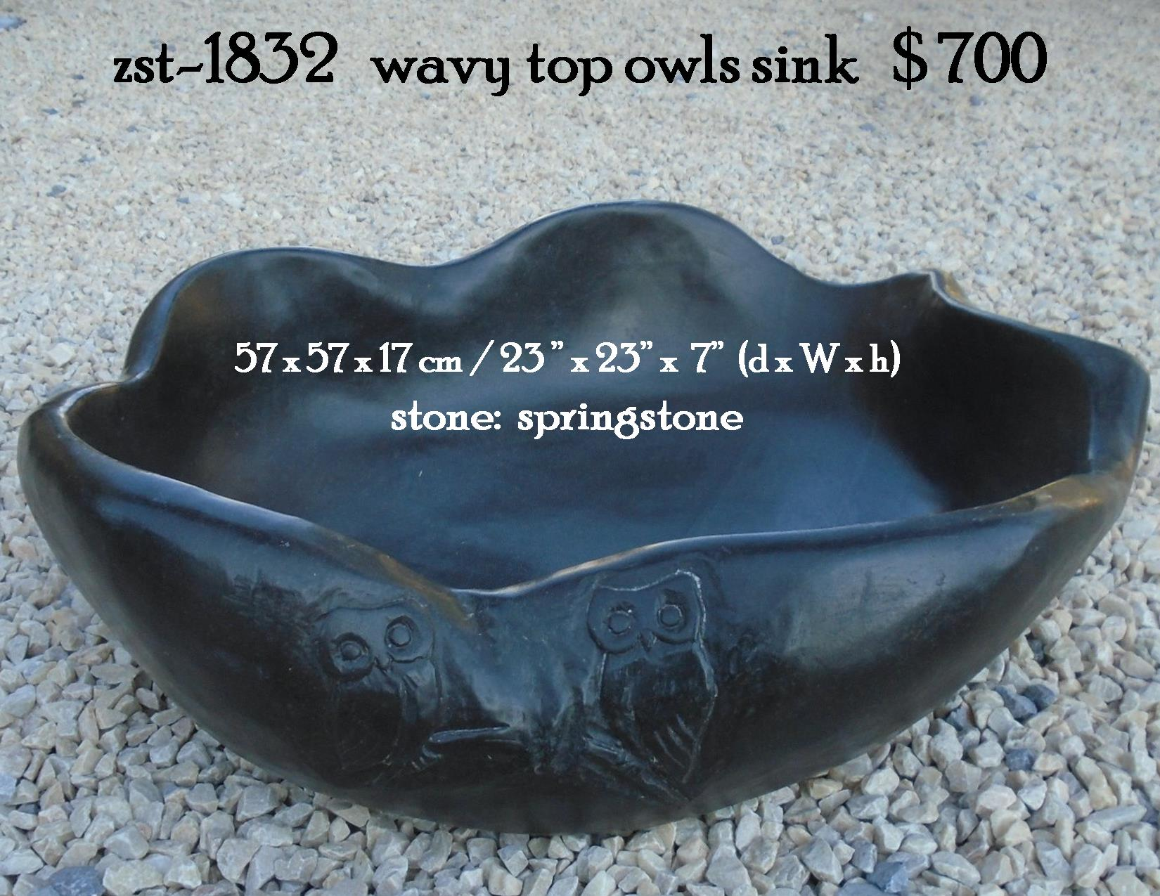 zst-1832   wavy top owls sink
