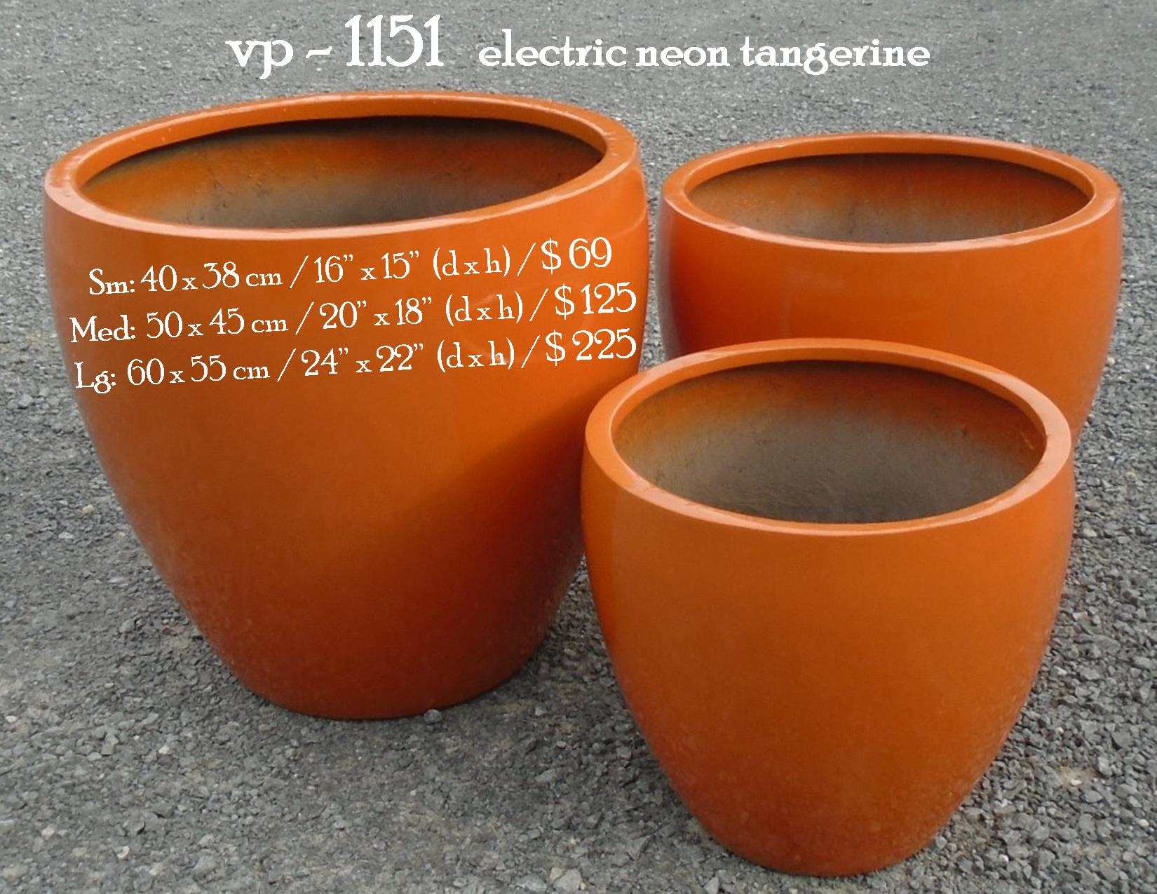 vp - 1151   electric neon tangerine