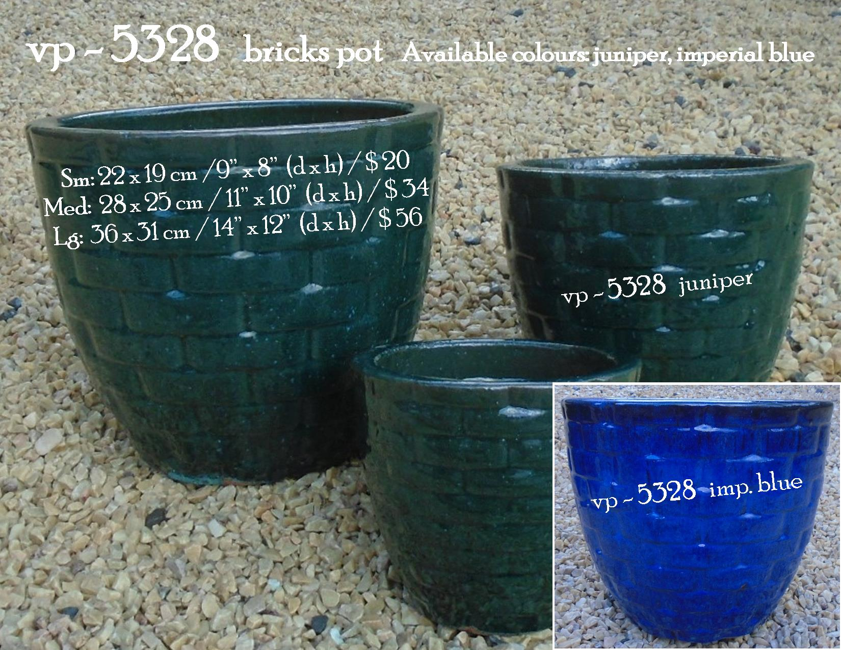 vp - 5328   bricks pot