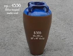 vp - 4536  blue top rustic urn