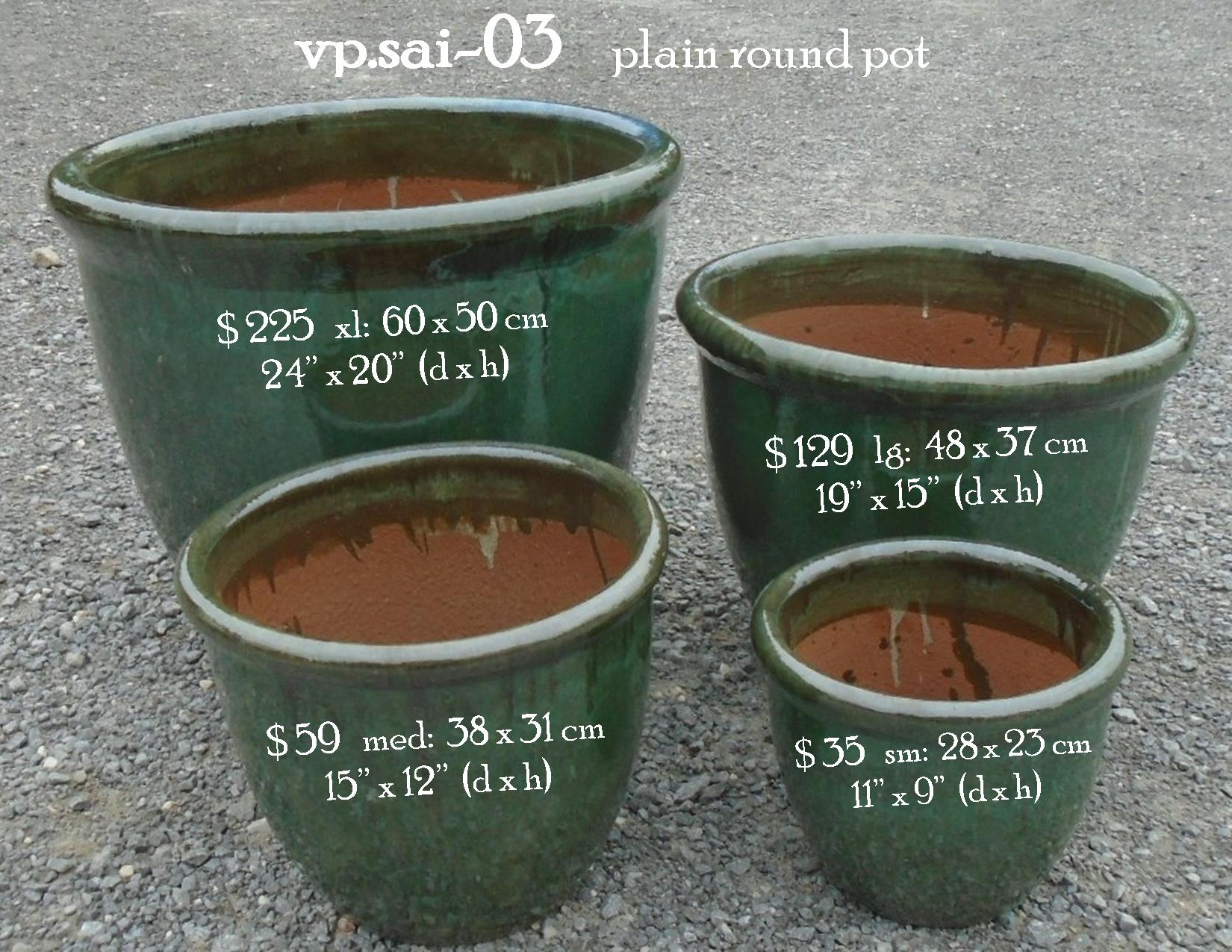 vp.sai-03    plain round pot