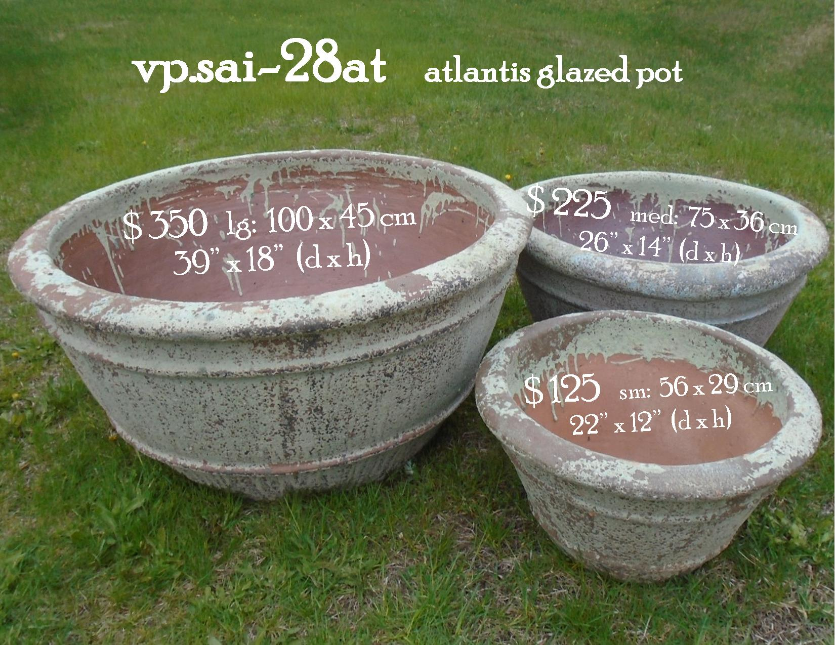 vp.sai-28at    atlantis glazed pot