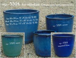 vp - 5324   fine ribbed pot