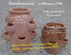 Strawberry pots     vp-6166 and vp-3709