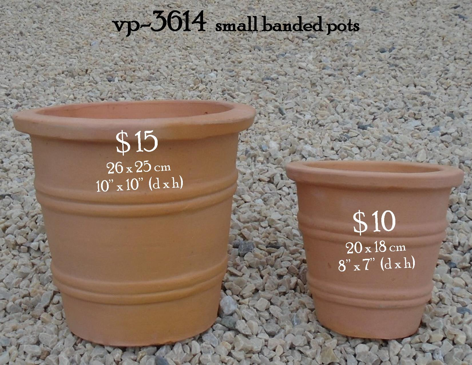 vp-3614  small banded pots