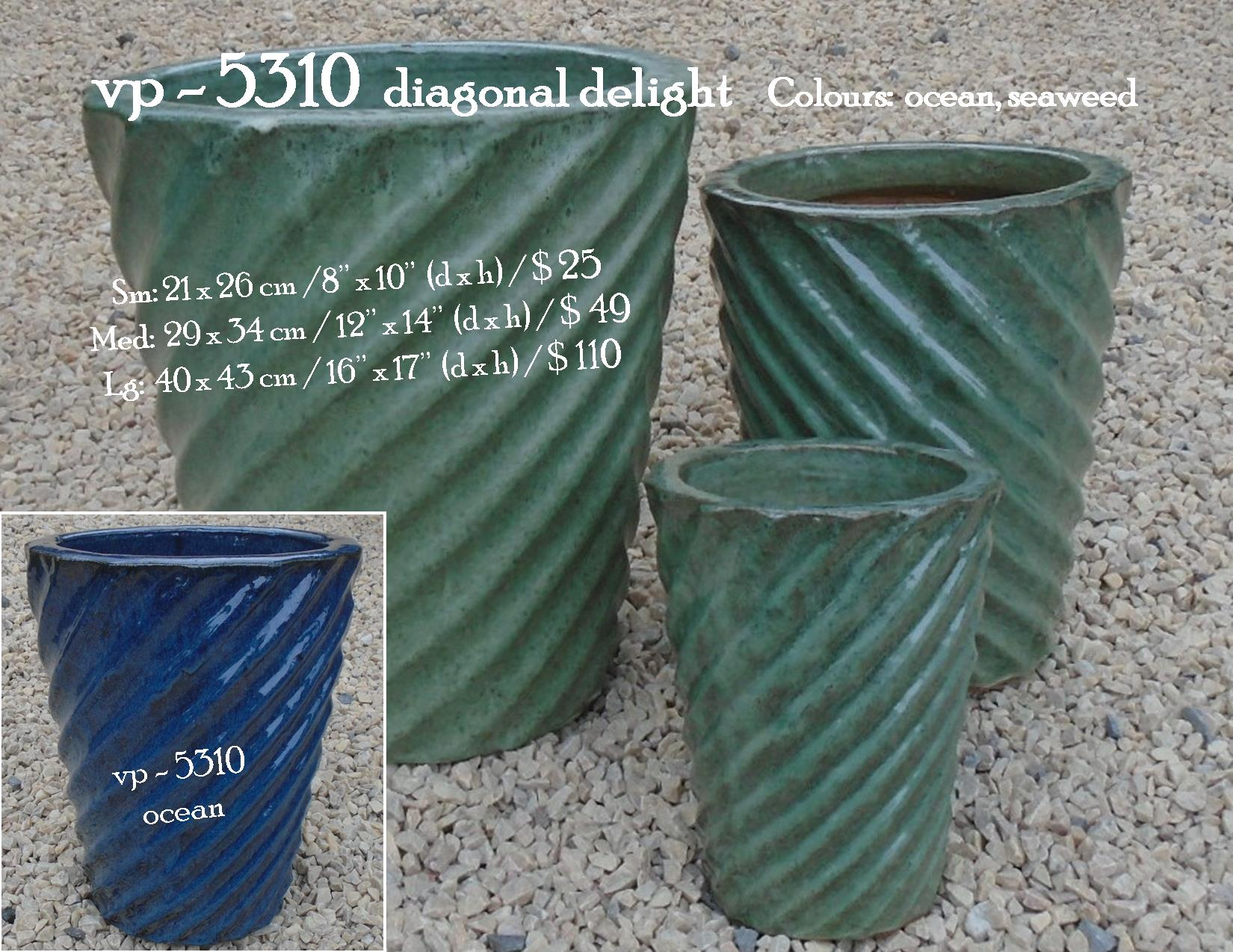vp - 5310  diagonal delight pot