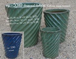 vp - 5310  diagonal delight pot
