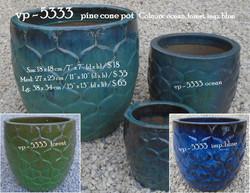 vp - 5333   pine cone pot