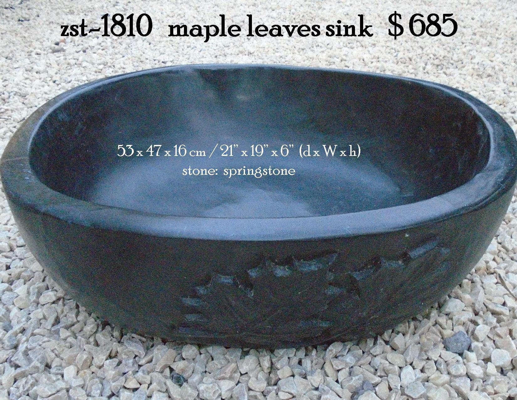 zst-1810   maple leaves sink