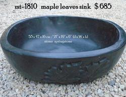 zst-1810   maple leaves sink