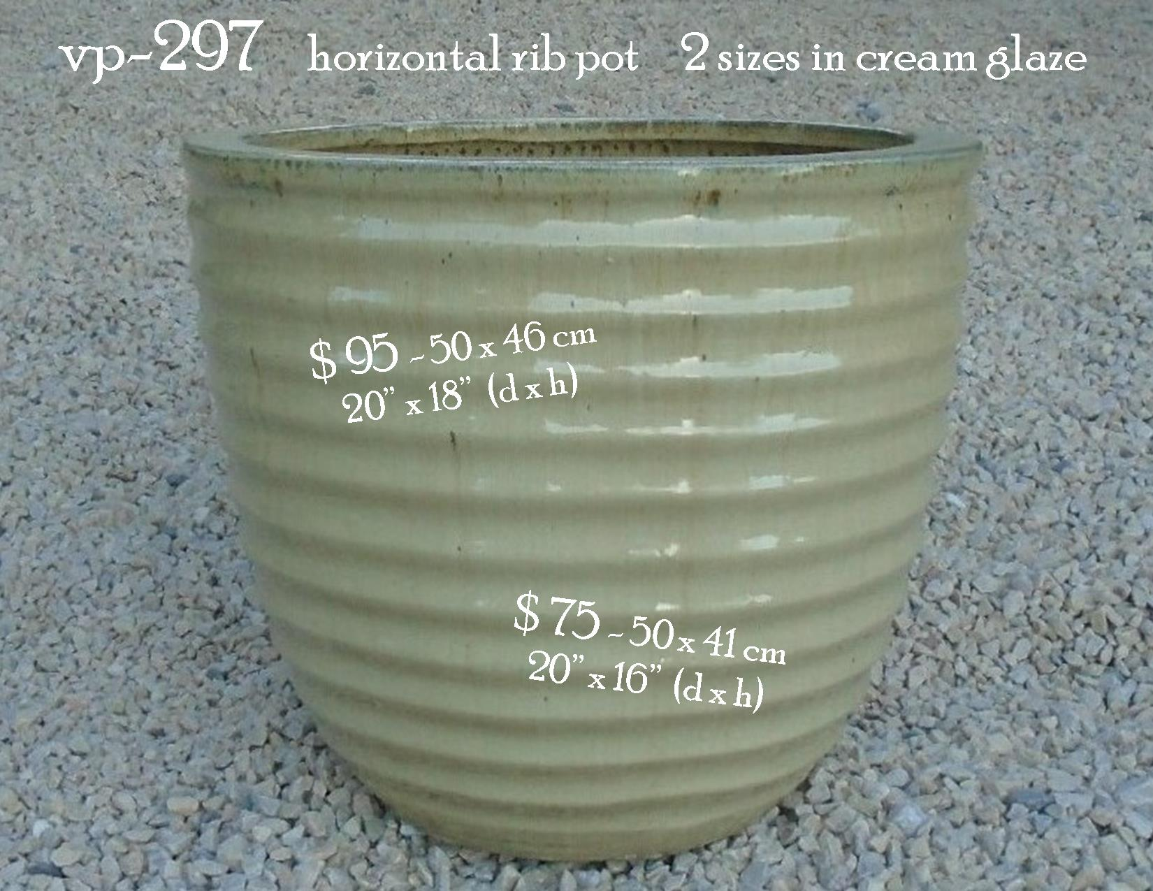 vp-297    horizontal rib pot