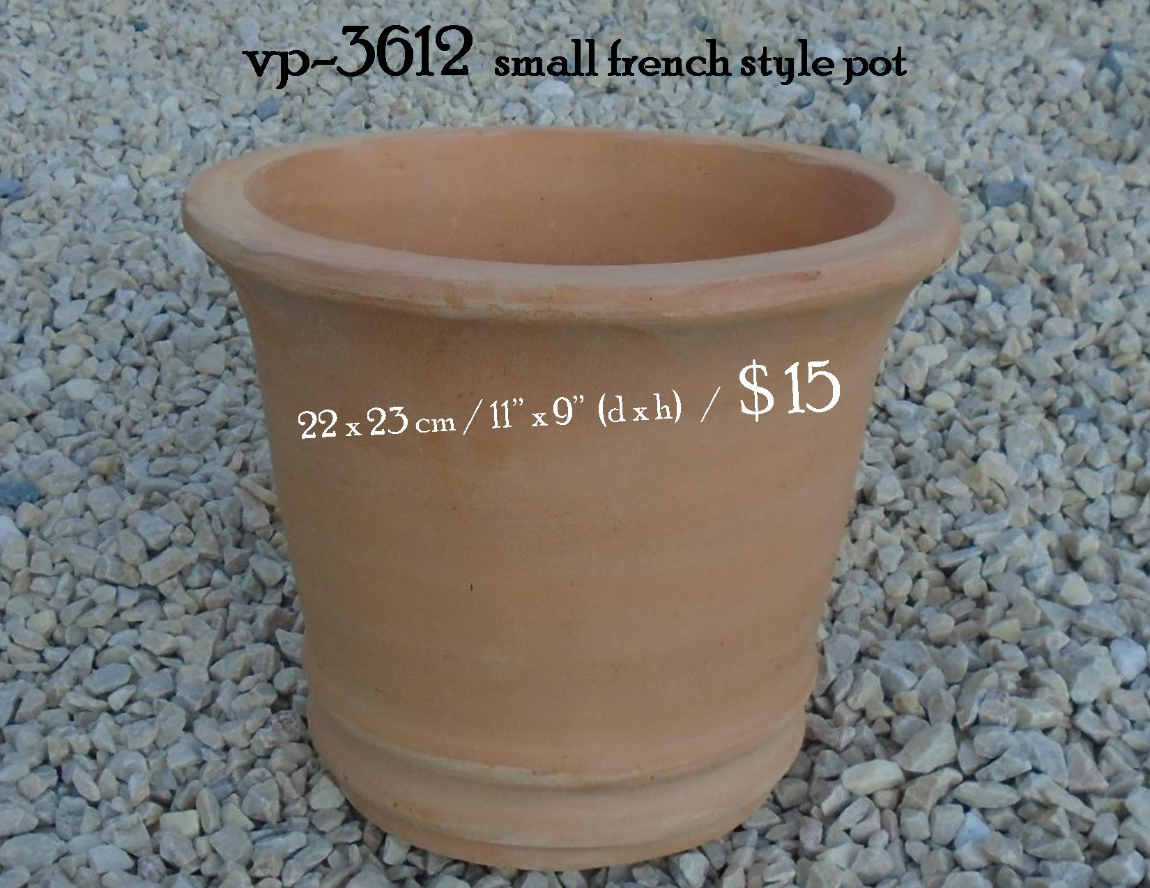 vp-3612  small french style pot