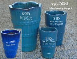 vp - 5081   ribbed wavy top pot