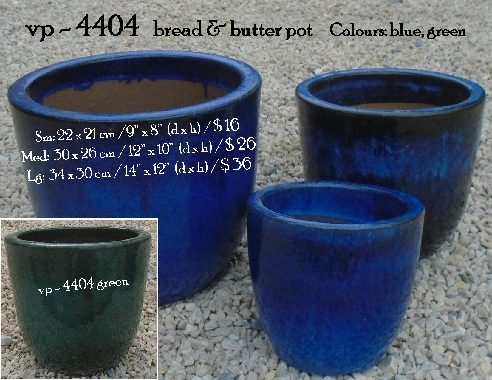 vp - 4404   bread & butter pot