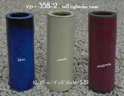 vp - 358-2     tall cylinder vase