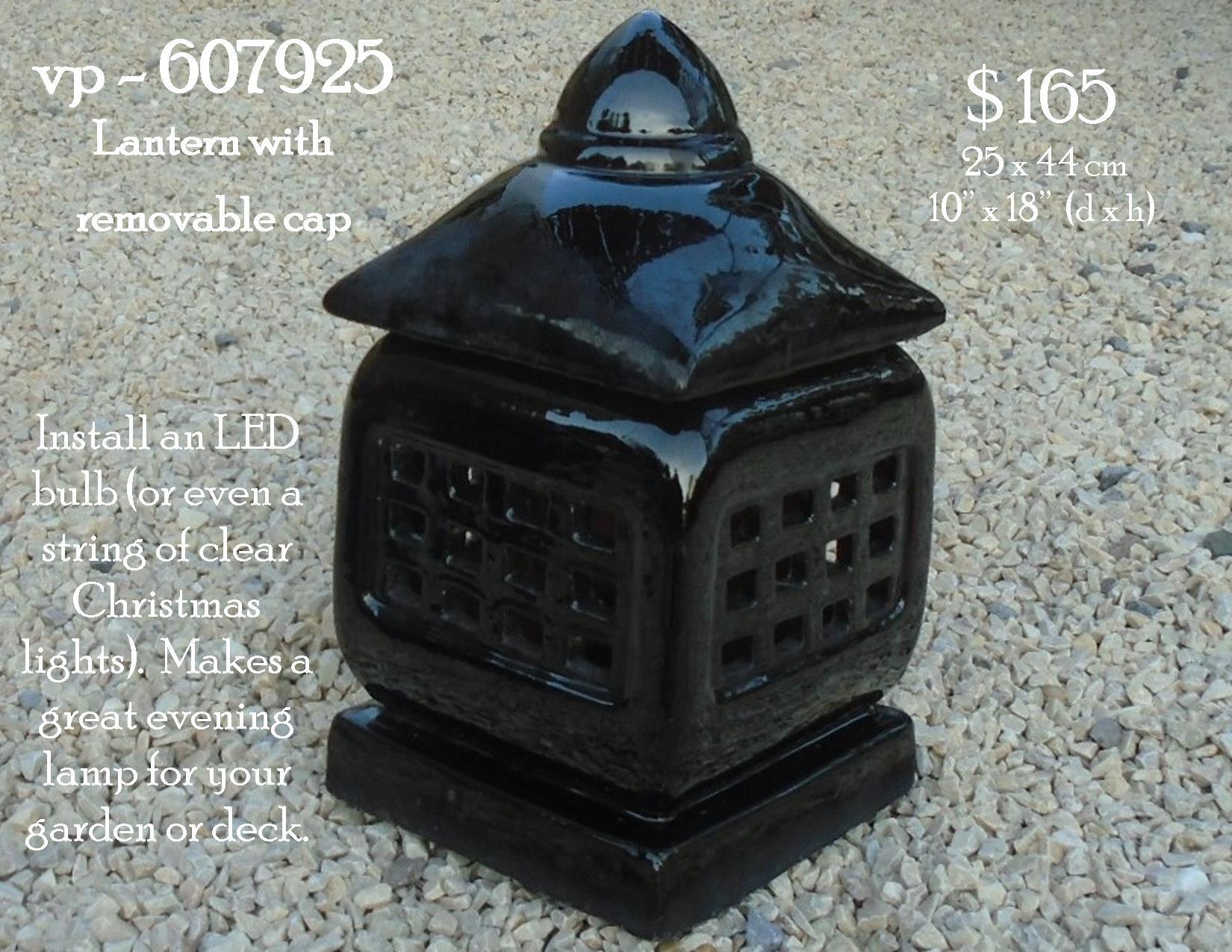 vp - 607925  ceramic lantern