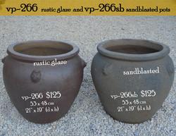 vp-266  rustic glaze  and vp-266sb sandb