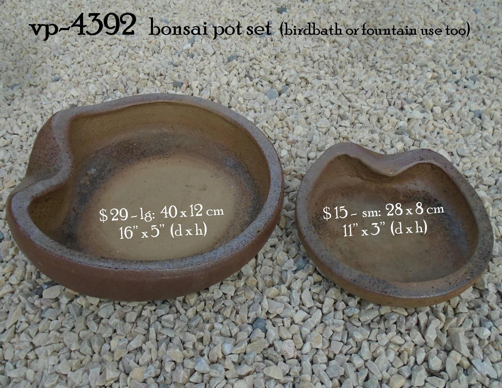 vp-4392   bonsai pot set