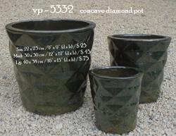 vp - 5332    concave diamond pot