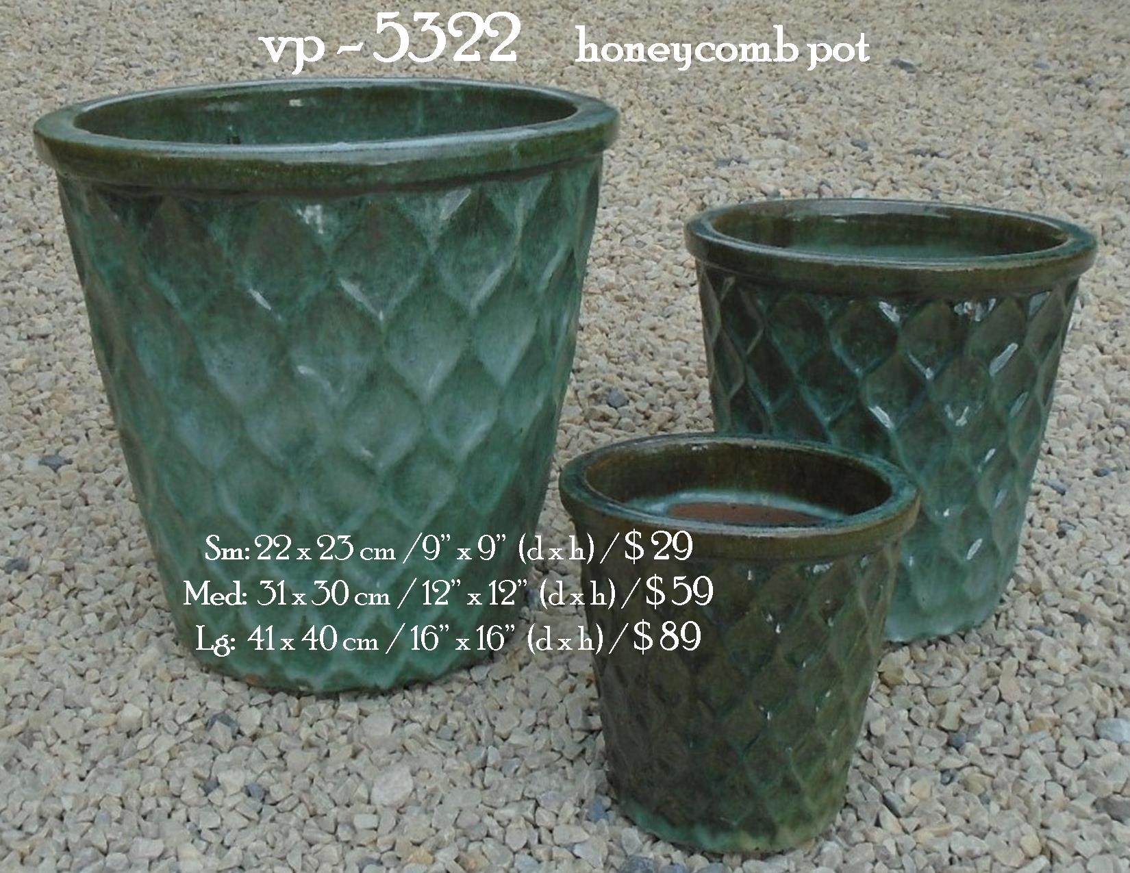vp - 5322     honeycomb pot
