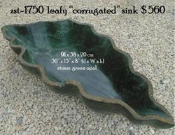 "zst-1750__leafy_""corrugated""_sink__."