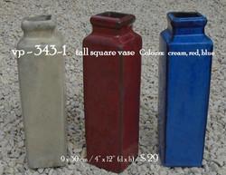 vp - 343-1     tall square vase