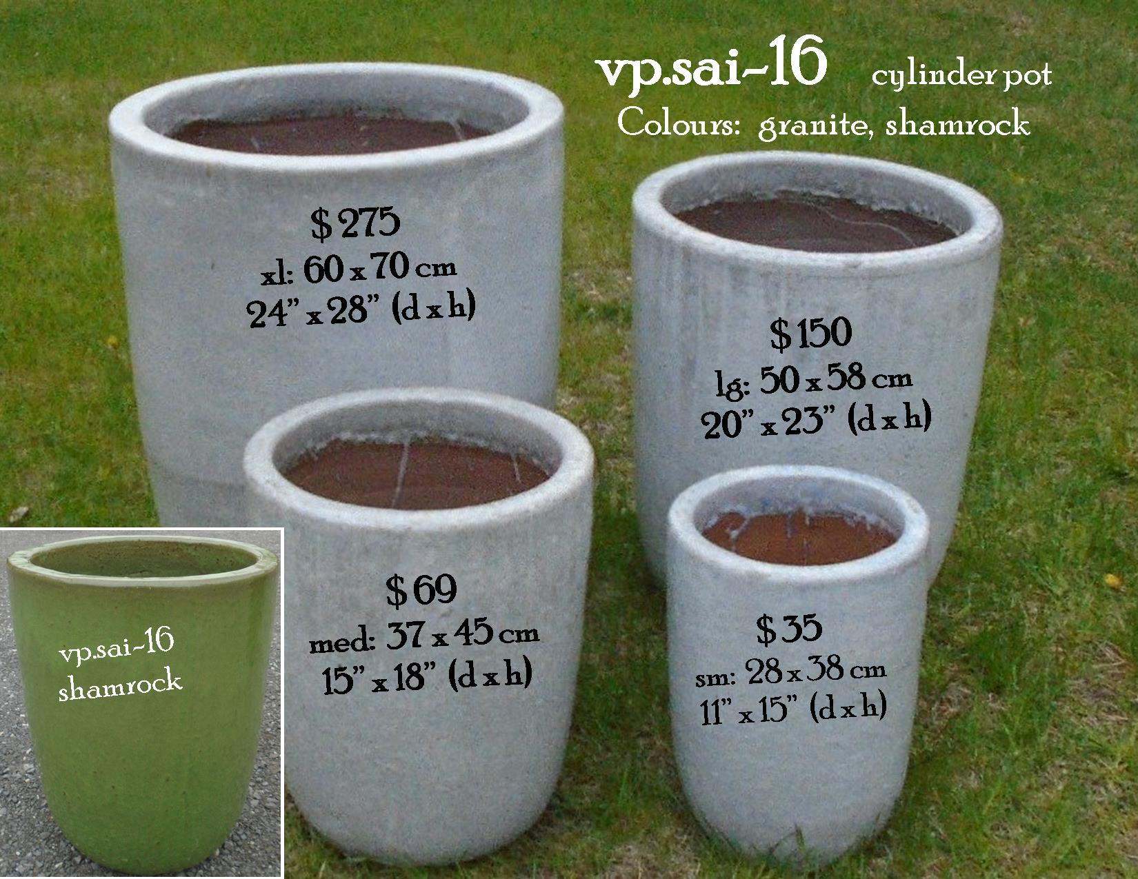 vp.sai-16    cylinder pot
