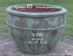vp.sai-65    Atlantis glazed pot