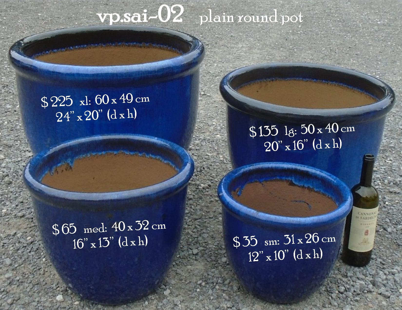 vp.sai-02    plain round pot