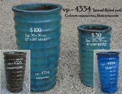 vp - 4334  round fluted pot