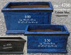 vp - 4766   rectangular pot