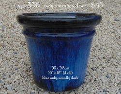 vp-336    twin rim tapered pot