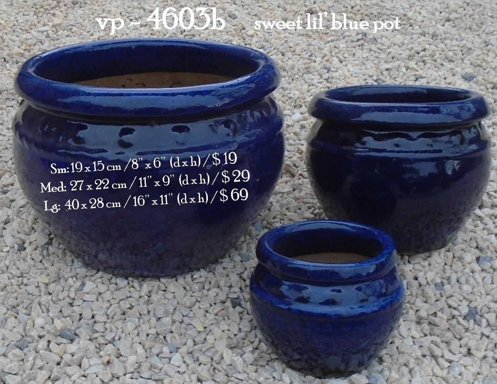 vp - 4603b      sweet little blue pot