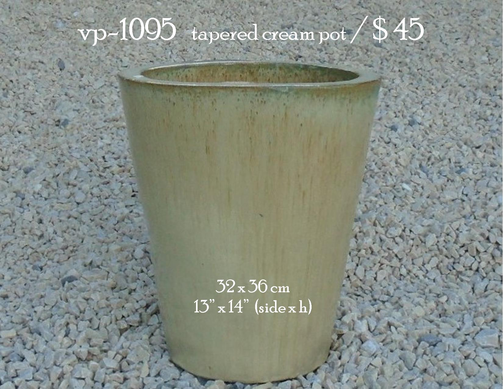 vp-1095   tapered cream pot