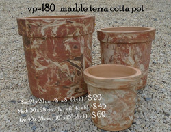 vp-180   marble terra cotta pot