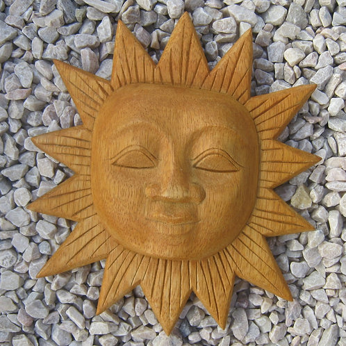 inwp-04 - natural wood sun plaque