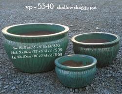 vp - 5340   shallow shaggy pot