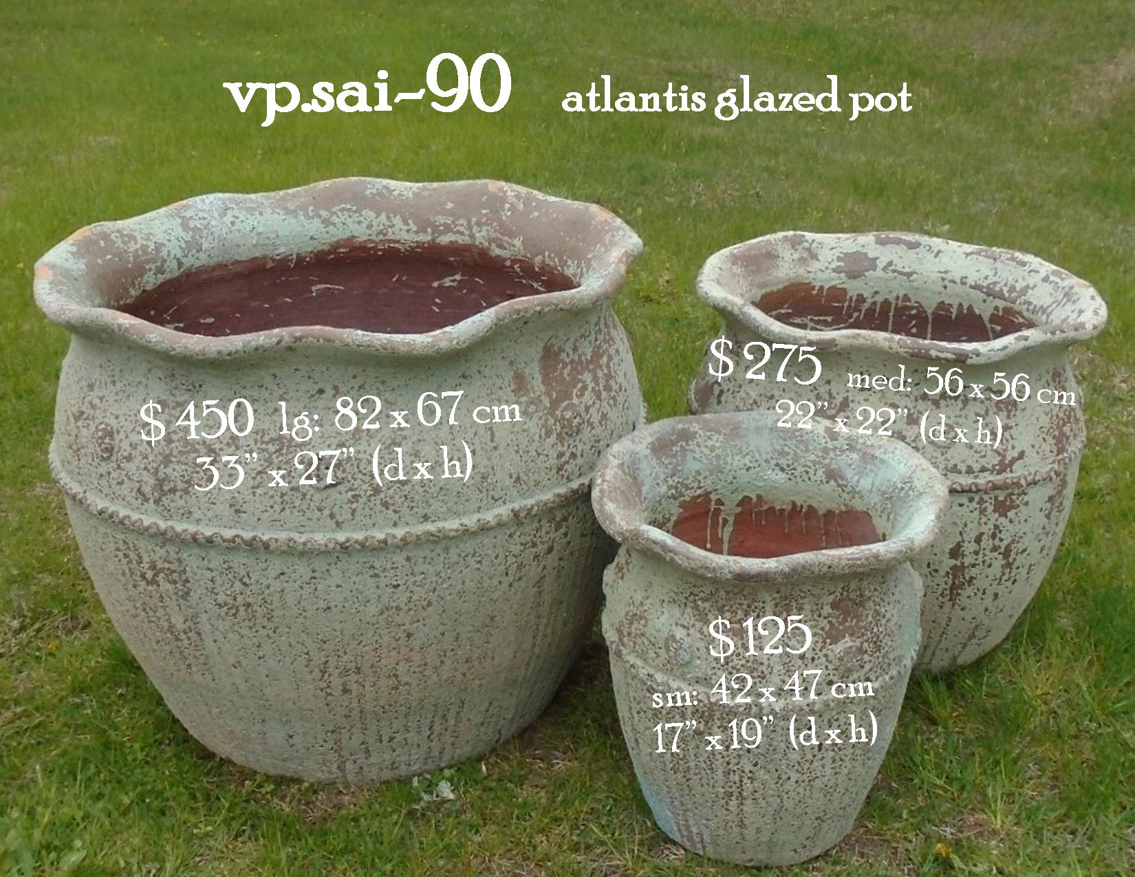 vp.sai-90    atlantis glazed pot