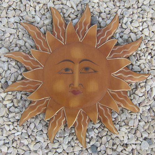 inwp-42002a - antique painted sun plaque