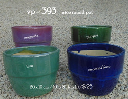 vp - 393    nice round pot