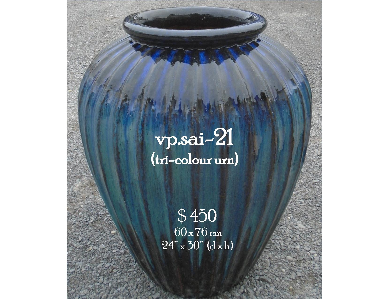 vp.sai-21  tri-colour urn