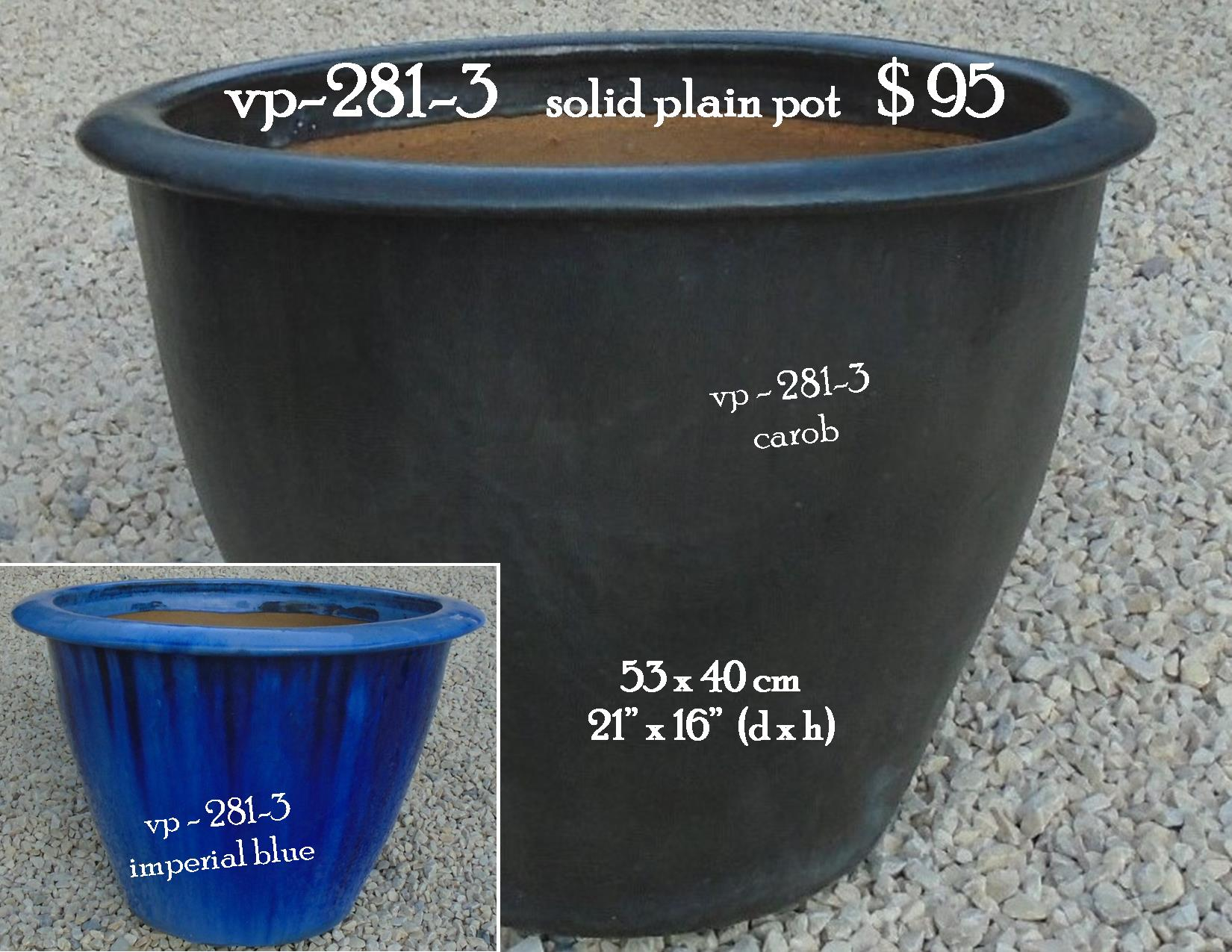 vp-281-3    solid plain pot