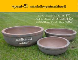 vp.sai-81   wide shallow pot