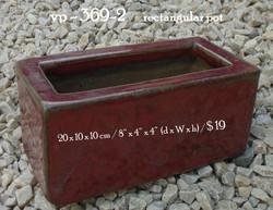 vp - 369-2      rectangular pot