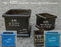 vp - 4765   square pot