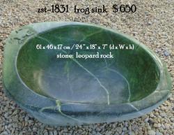 zst-1831   frog sink